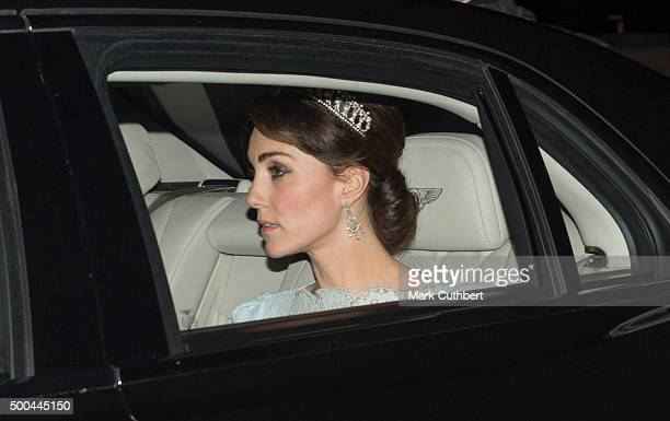 Catherine Duchess of Cambridge attends the Diplomatic Reception at Buckingham Palace on December 8 2015 in London England