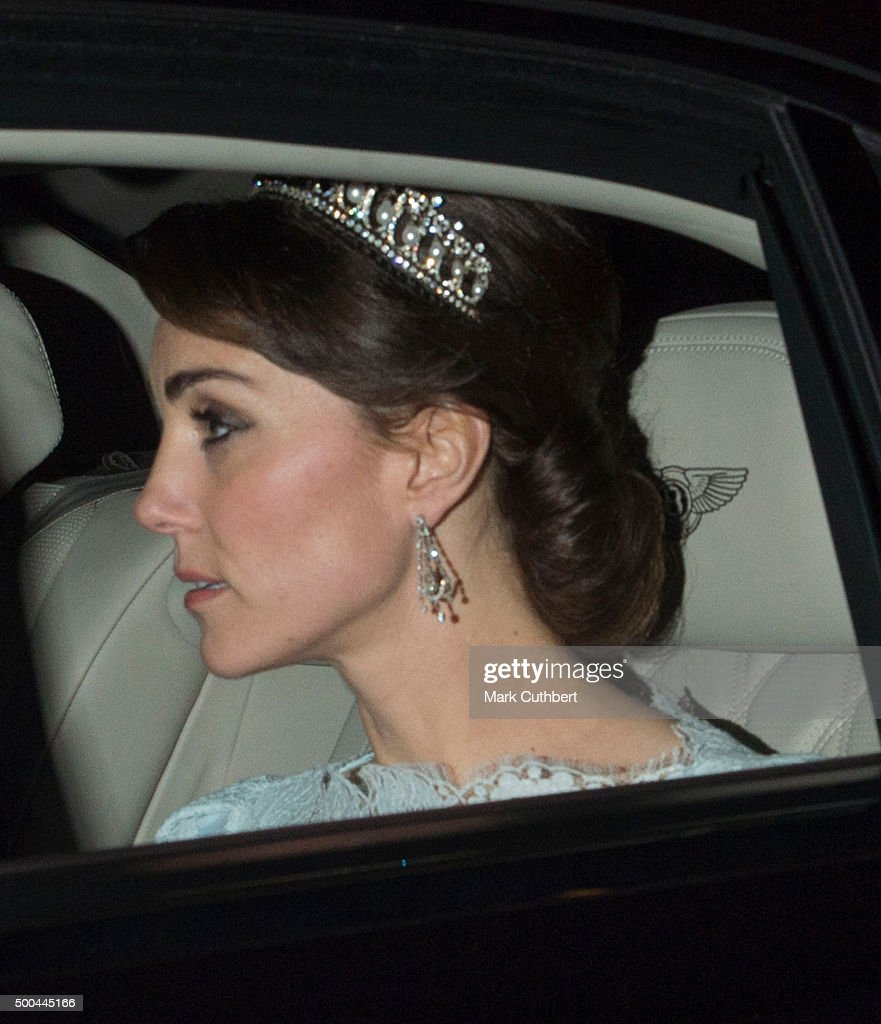 Catherine, Duchess of Cambridge attends the Diplomatic Reception at Buckingham Palace on December 8, 2015 in London, England.