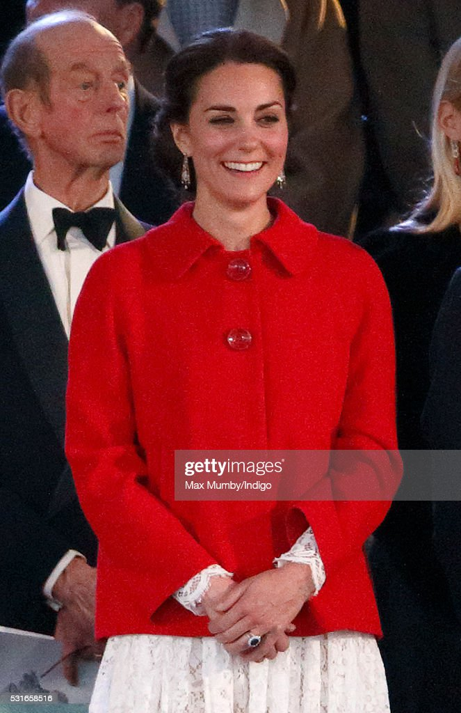 Catherine Duchess Of Cambridge Attends The Final Night Queens 90th Birthday Celebrations Being
