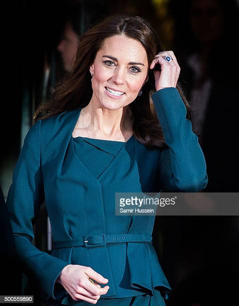 Catherine Duchess of Cambridge attends the ICAP charity day at ICAP on December 9 2015 in London England