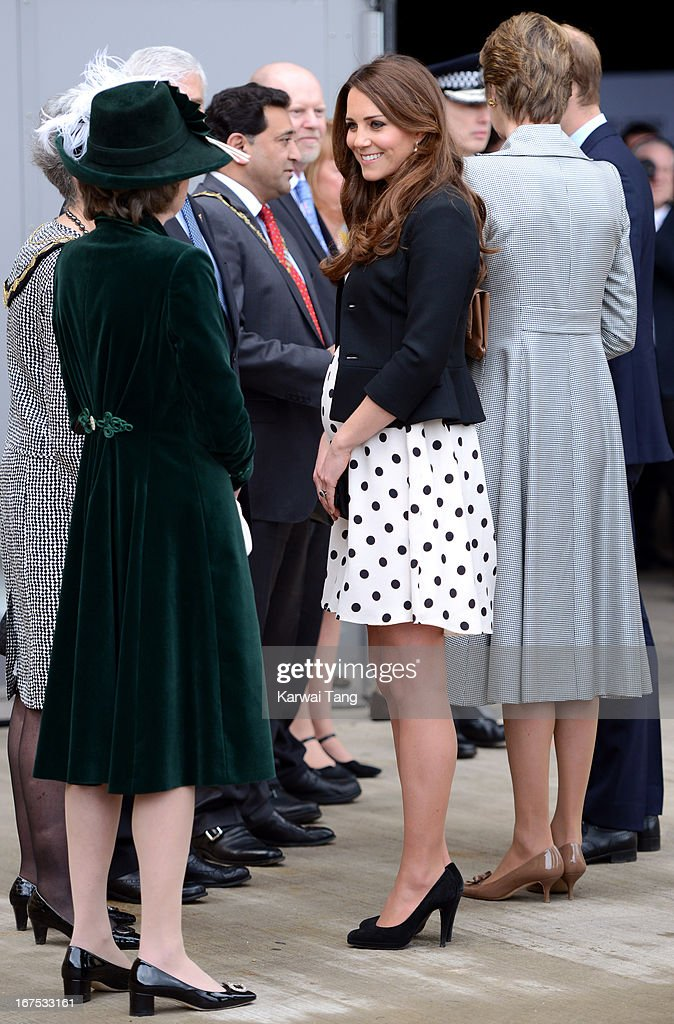 Catherine, Duchess of Cambridge attends the inauguration of Warner Bros. Studio Tour London on April 26, 2013 in Watford, England.