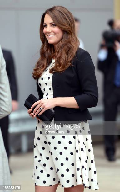 Catherine Duchess of Cambridge attends the inauguration of Warner Bros Studio Tour London on April 26 2013 in Watford England