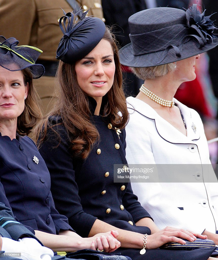Catherine, Duchess of Cambridge attends the Irish Guards Afghanistan Operational Medals Parade at Victoria Barracks on June 25, 2011 in Windsor, England.
