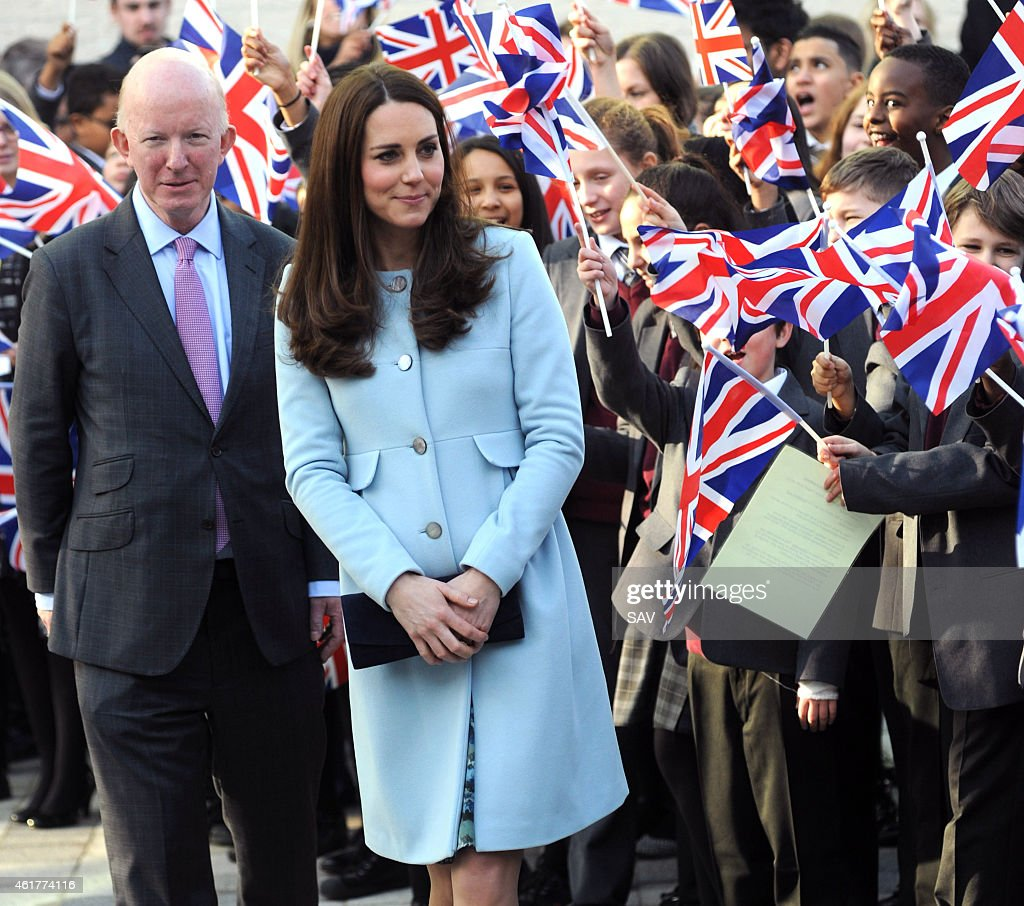 Catherine, Duchess of Cambridge attends the Kensington Aldridge Academy on January 19, 2015 in London, England.
