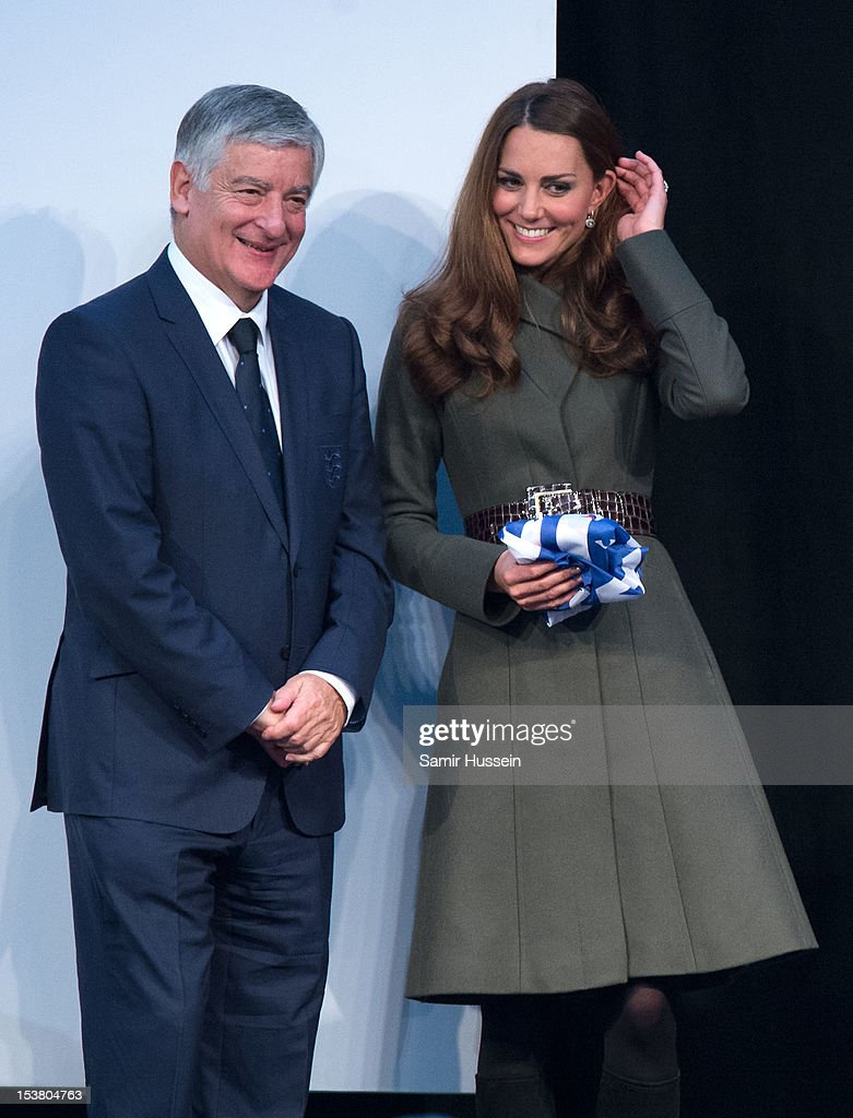 Catherine, Duchess of Cambridge attends the launch the Football Association's National Football Centre at St George's Park on October 9, 2012 in Burton-upon-Trent, England.