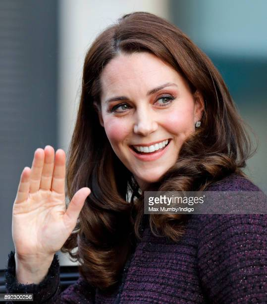 Catherine Duchess of Cambridge attends the 'Magic Mums' community Christmas party held at Rugby Portobello Trust on December 12 2017 in London...