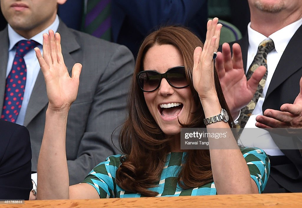 <a gi-track='captionPersonalityLinkClicked' href=/galleries/search?phrase=Catherine+-+Duchess+of+Cambridge&family=editorial&specificpeople=542588 ng-click='$event.stopPropagation()'>Catherine</a>, Duchess of Cambridge attends the mens singles final between Novak Djokovic and Roger Federer on centre court during day thirteen of the Wimbledon Championships at Wimbledon on July 6, 2014 in London, England.