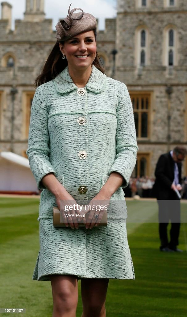 <a gi-track='captionPersonalityLinkClicked' href=/galleries/search?phrase=Catherine+-+Duchess+of+Cambridge&family=editorial&specificpeople=542588 ng-click='$event.stopPropagation()'>Catherine</a>, Duchess of Cambridge attends the National Review of Queen's Scouts at Windsor Castle on April 21, 2013.
