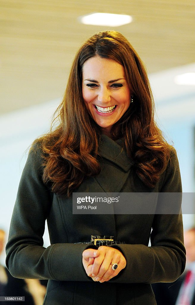 Catherine, Duchess of Cambridge attends the official launch of The Football Association's National Football Centre at St George's Park on October 9, 2012 in Burton-upon-Trent, England.