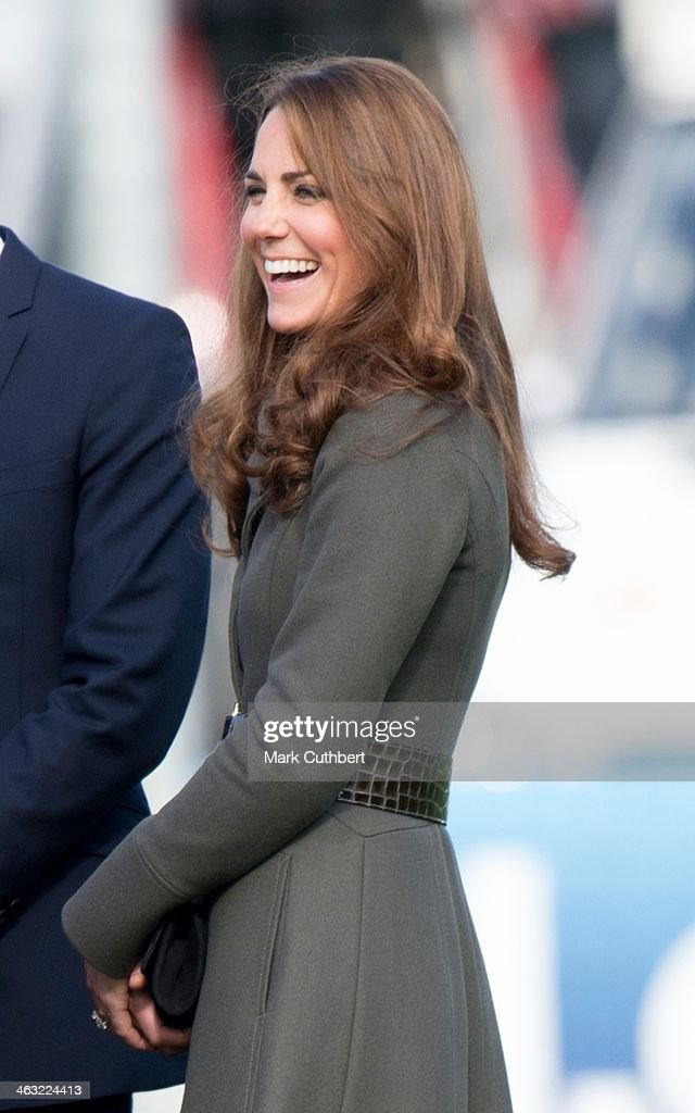 Catherine, Duchess of Cambridge attends the official launch of The Football Association's National Football Centre at St George's Park on October 9, 2012 in Burton, England.