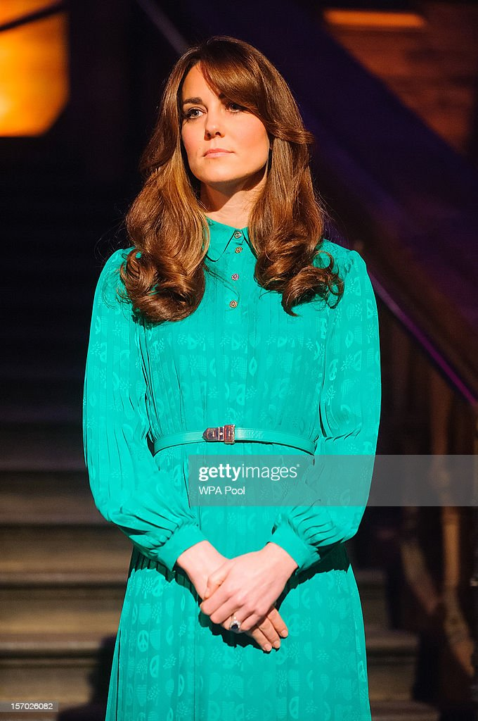 Catherine, Duchess of Cambridge attends the official opening of The Natural History Museums's Treasures Gallery at Natural History Museum on November 27, 2012 in London, England.
