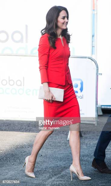 Catherine Duchess of Cambridge attends the official opening of The Global Academy in support of Heads Together at The Global Academy on April 20 2017...