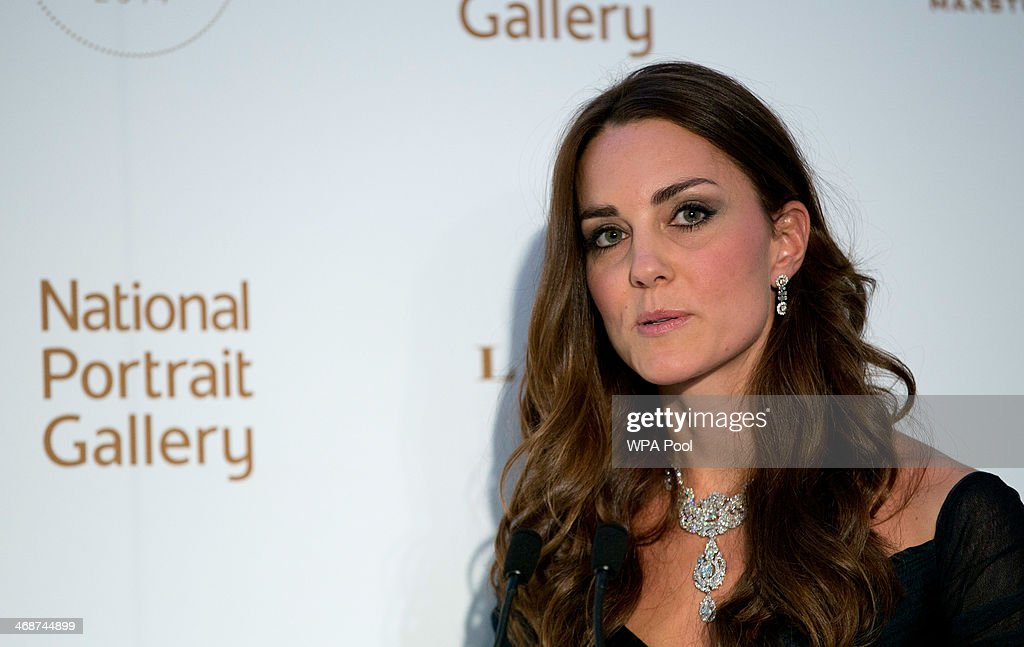 <a gi-track='captionPersonalityLinkClicked' href=/galleries/search?phrase=Catherine+-+Duchess+of+Cambridge&family=editorial&specificpeople=542588 ng-click='$event.stopPropagation()'>Catherine</a>, Duchess of Cambridge attends The Portrait Gala 2014: Collecting To Inspire at National Portrait Gallery on February 11, 2014 in London, England.