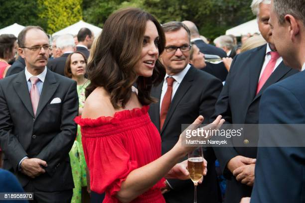 Catherine Duchess of Cambridge attends The Queen's Birthday Party at the British Ambassadorial Residence on the first day of their visit to Germany...