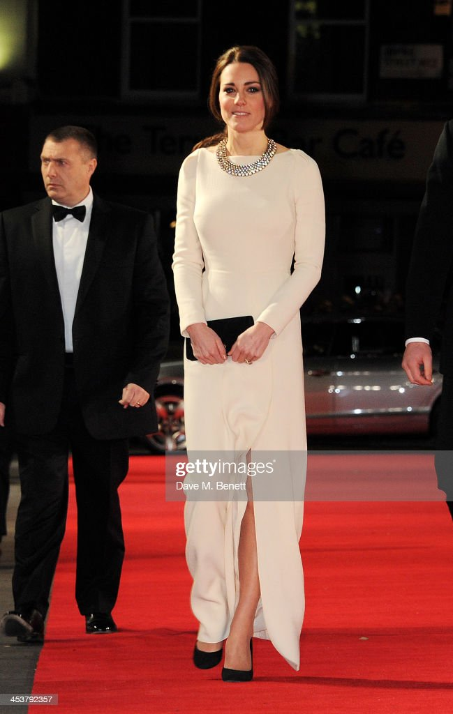 Catherine, Duchess of Cambridge attends the Royal Film Performance of 'Mandela: Long Walk to Freedom' at Odeon Leicester Square on December 5, 2013 in London, United Kingdom.