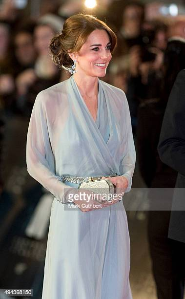 Catherine Duchess of Cambridge attends the Royal Film Performance of 'Spectre' at Royal Albert Hall on October 26 2015 in London England