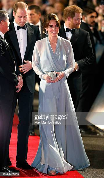 Catherine Duchess of Cambridge attends the Royal Film Performance of 'Spectre' at The Royal Albert Hall on October 26 2015 in London England
