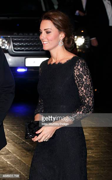 Catherine Duchess of Cambridge attends the Royal Variety Performance at the London Palladium on November 13 2014 in London England