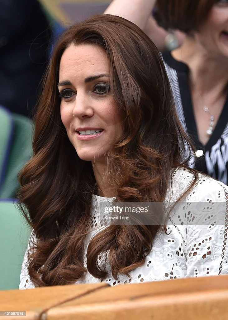 <a gi-track='captionPersonalityLinkClicked' href=/galleries/search?phrase=Catherine+-+Duchess+of+Cambridge&family=editorial&specificpeople=542588 ng-click='$event.stopPropagation()'>Catherine</a>, Duchess of Cambridge attends the Simone Halep v Sabine Lisicki match on centre court during day nine of the Wimbledon Championships at Wimbledon on July 2, 2014 in London, England.