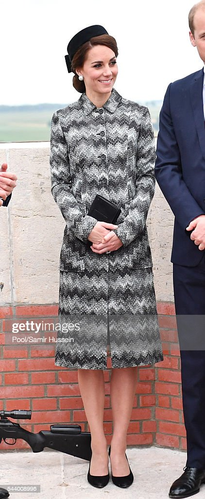 Catherine, Duchess of Cambridge attends the Somme Centenary commemorations at the Thiepval Memorial on June 30, 2016 in Thiepval, France.