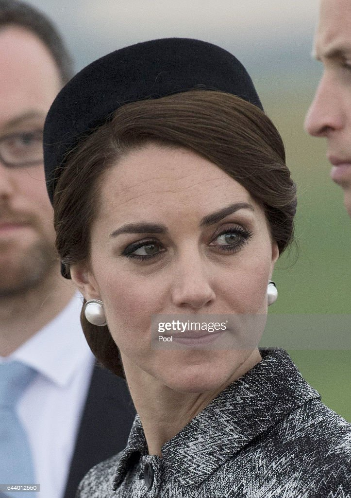 Catherine, Duchess of Cambridge attends the Somme Centenary commemorations at the Thiepval Memorial on June 30, 2016 in Albert, France.