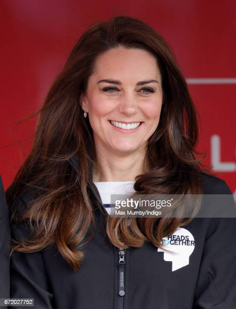 Catherine Duchess of Cambridge attends the start of the 2017 Virgin Money London Marathon on April 23 2017 in London England The Heads Together...