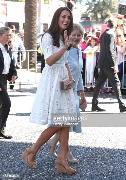 Catherine Duchess of Cambridge attends the Sydney Royal Easter Show on April 18 2014 in Sydney Australia The Duke and Duchess of Cambridge are on a...