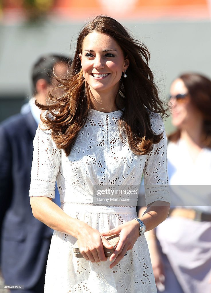 Catherine, Duchess of Cambridge attends the Sydney Royal Easter Show on April 18, 2014 in Sydney, Australia. The Duke and Duchess of Cambridge are on a three-week tour of Australia and New Zealand, the first official trip overseas with their son, Prince George of Cambridge.