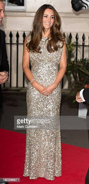 Catherine Duchess of Cambridge attends The Tusk Conservation Awards at The Royal Society on September 12 2013 in London England
