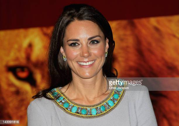 Catherine Duchess of Cambridge attends the UK Premiere of 'African Cats' in aid of Tusk at BFI Southbank on April 25 2012 in London England