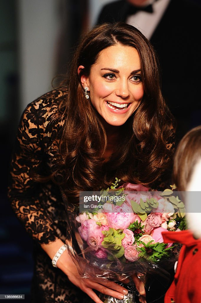Catherine, Duchess of Cambridge attends the UK premiere of War Horse at the Odeon Leicester Square on January 8, 2012 in London, England.