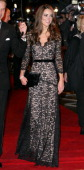 Catherine Duchess of Cambridge attends the UK premiere of War Horse at Odeon Leicester Square on January 8 2012 in London England