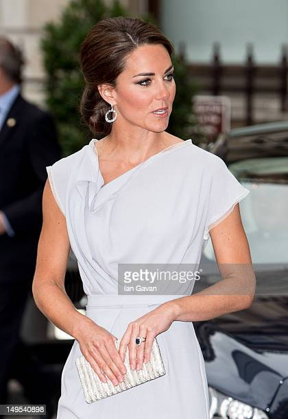Catherine Duchess of Cambridge attends the UK's Creative Industries Reception at the Royal Academy of Arts on July 30 2012 in London England