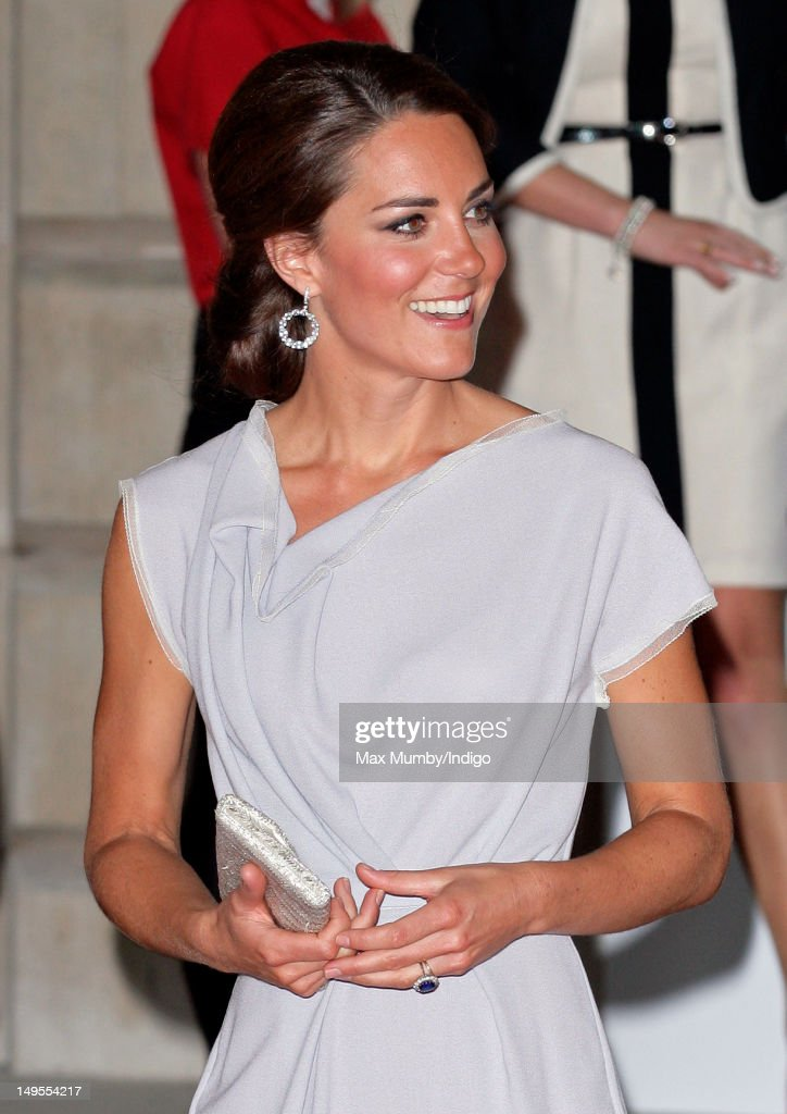 Catherine, Duchess of Cambridge attends The UK's Creative Industries Reception, as part of The British Government's GREAT campaign at the Royal Academy of Arts on July 30, 2012 in London, England.