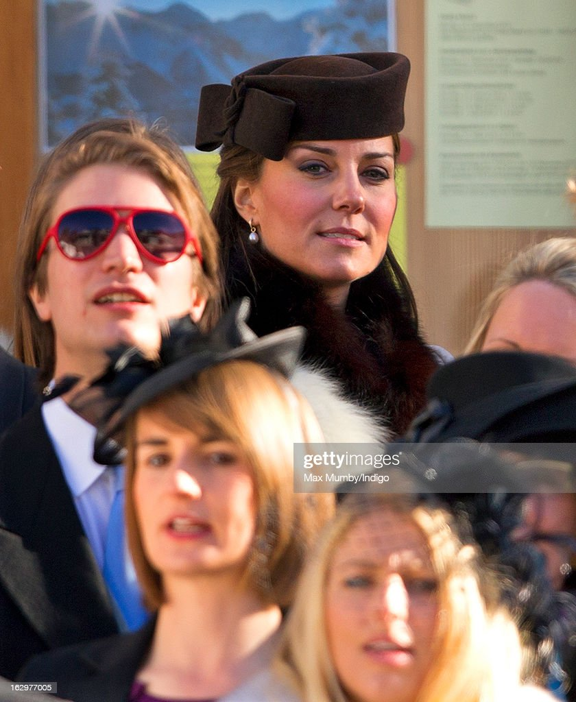 <a gi-track='captionPersonalityLinkClicked' href=/galleries/search?phrase=Catherine+-+Herzogin+von+Cambridge&family=editorial&specificpeople=542588 ng-click='$event.stopPropagation()'>Catherine</a>, Duchess of Cambridge attends the wedding of Laura Bechtolsheimer and Mark Tomlinson at the Protestant Church on March 2, 2013 in Arosa, Switzerland.