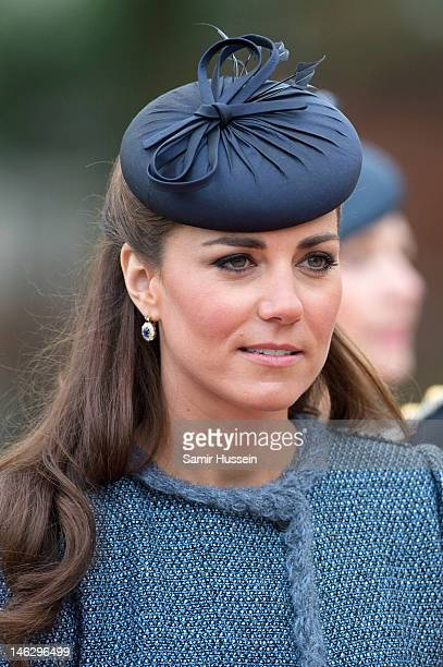 Catherine Duchess of Cambridge attends Vernon Park during a Diamond Jubilee visit to Nottingham on June 13 2012 in Nottingham England