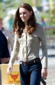 Catherine Duchess of Cambridge board a float plane at the Old Town Float Base on day 6 of the Royal Couple's North American Tour July 5 2011 in...