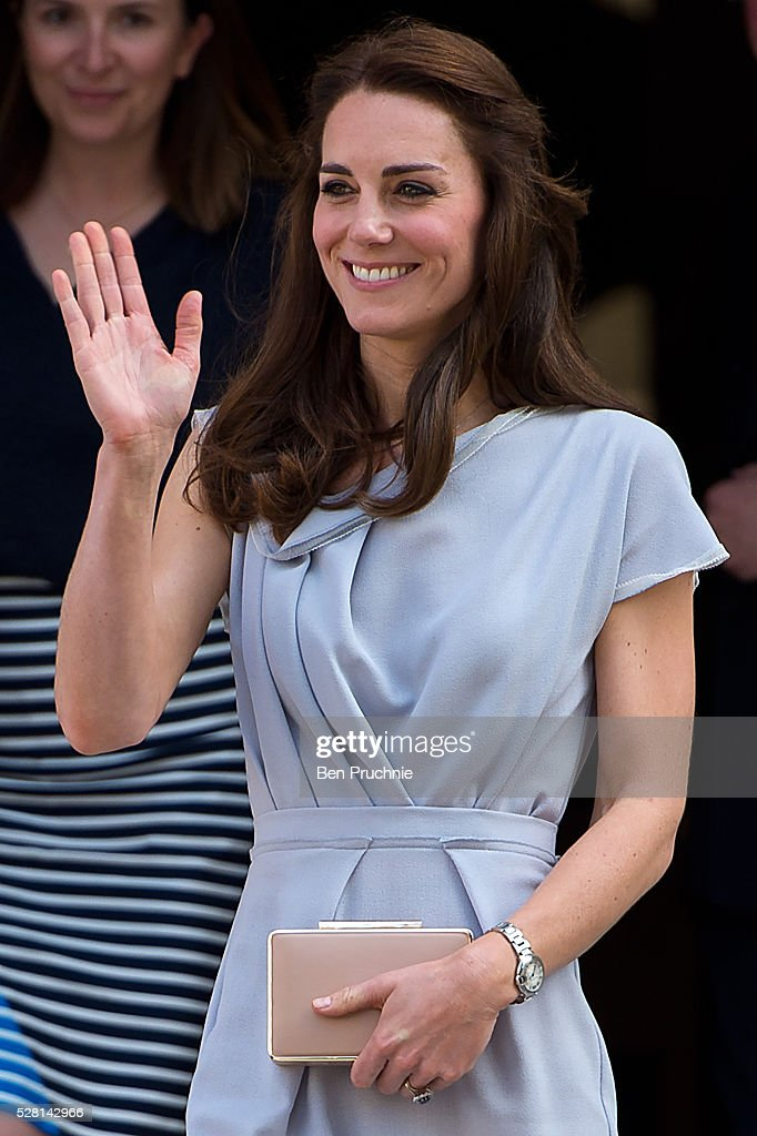 Catherine, Duchess of Cambridge departs the Anna Freud Centre on May 4, 2016 in London, England.