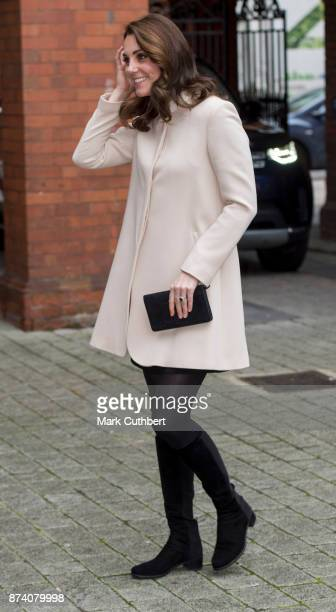 Catherine Duchess of Cambridge during a visit to Hornsey Road Children's Centre on November 14 2017 in London England