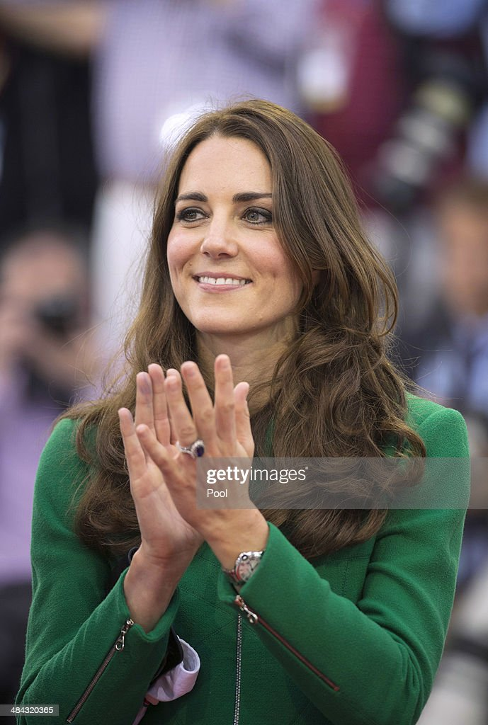 Catherine, Duchess of Cambridge during a visit to the Avantidrome on April 12, 2014 in Hamilton, New Zealand. The Duke and Duchess of Cambridge are on a three-week tour of Australia and New Zealand, the first official trip overseas with their son, Prince George of Cambridge.