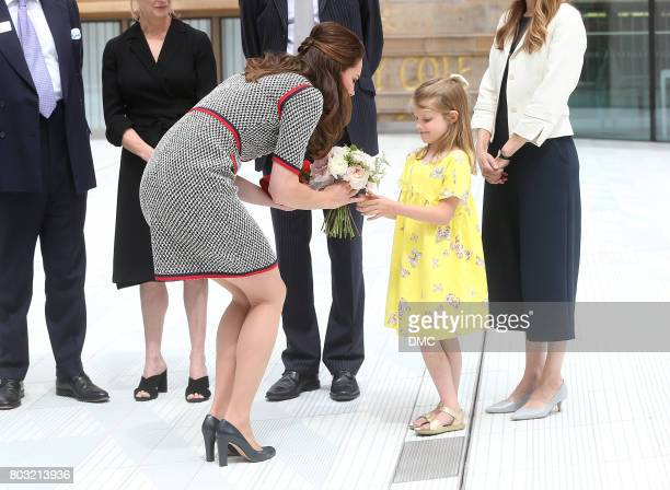 Catherine Duchess of Cambridge during an official visit to the new VA exhibition road quarter at Victoria Albert Museum on June 29 2017 in London...