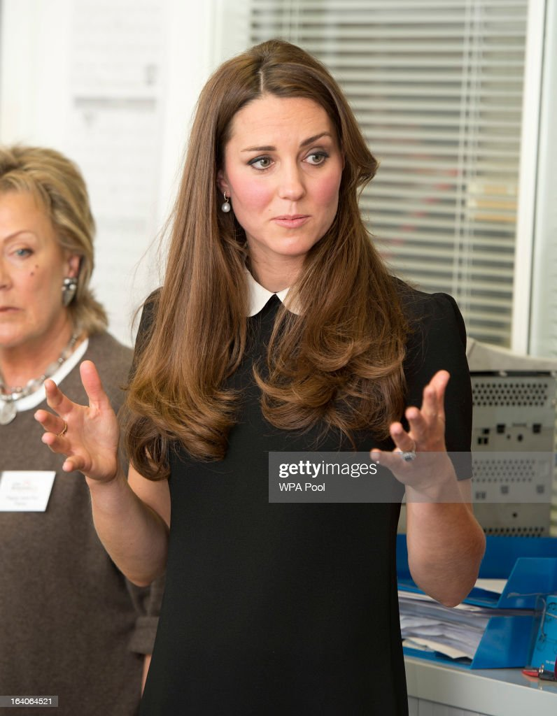 Catherine, Duchess of Cambridge during her visit to the offices of Child Bereavement UK on March 19, 2013 in Saunderton, Buckinghamshire.