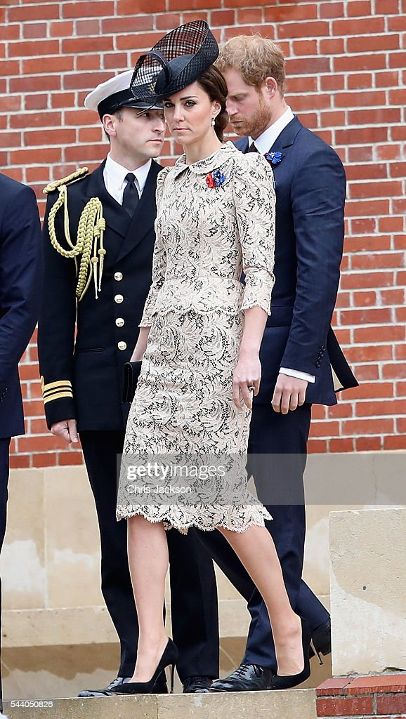 Catherine, Duchess of Cambridge during Somme Centenary Commemorations on July 1, 2016 in Thiepval, France. Today marks exactly 100 years since the beginning of the battle of the Somme.