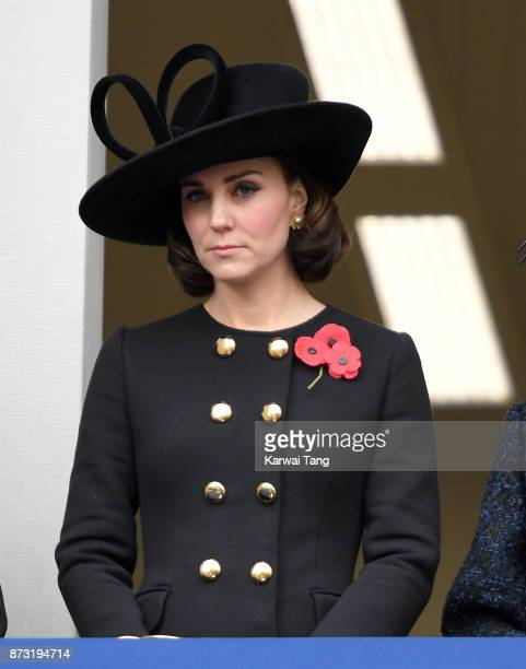 Catherine Duchess of Cambridge during the annual Remembrance Sunday Service at The Cenotaph on November 12 2017 in London England