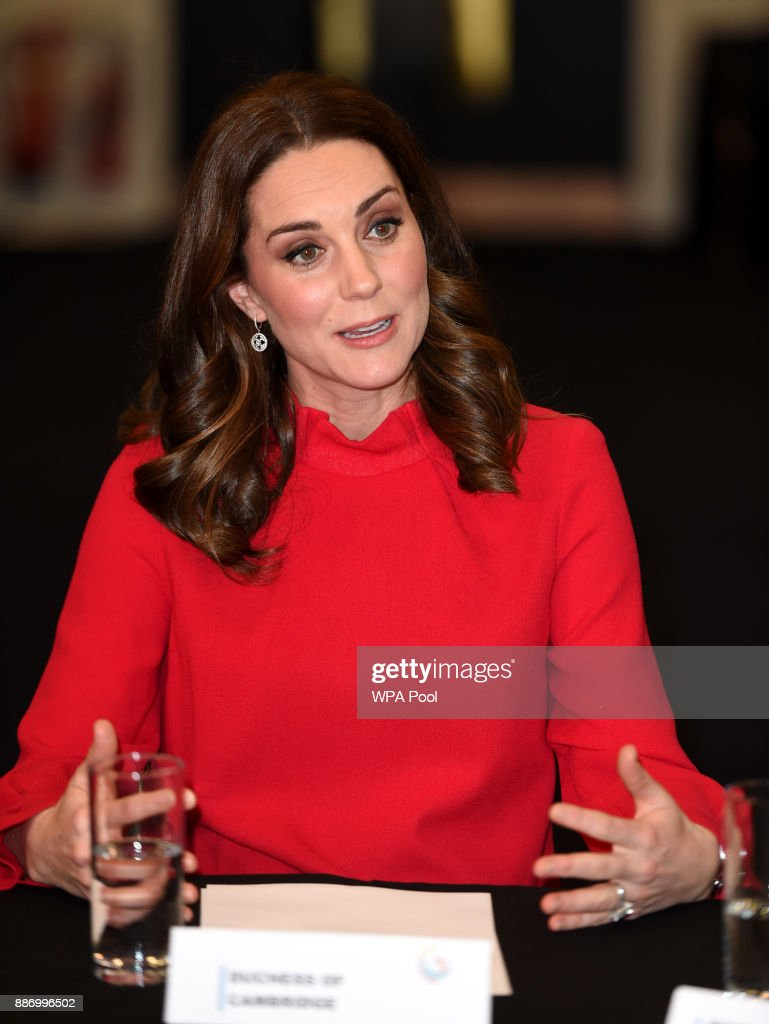 Catherine, Duchess of Cambridge gives a keynote speech at the Children's Global Media Summit at the Manchester Central Convention on December 6, 2017 in Manchester, United Kingdom.