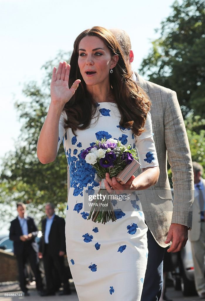 Catherine Duchess of Cambridge greets wellwishers after a visit to Keech Hospice Care on August 24 2016 in Luton England The Duke and Duchess visited...