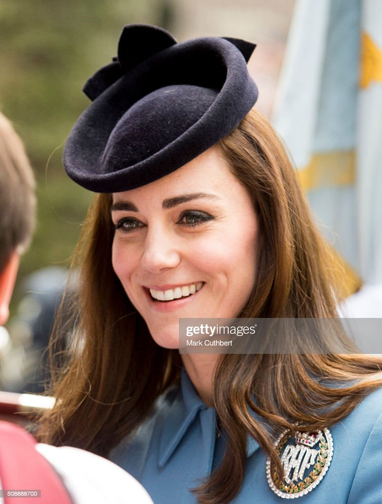 <a gi-track='captionPersonalityLinkClicked' href=/galleries/search?phrase=Catherine+-+Duchess+of+Cambridge&family=editorial&specificpeople=542588 ng-click='$event.stopPropagation()'>Catherine</a>, Duchess of Cambridge, Honorary Air Commandant, attends a service to mark the 75th anniversary year of the RAF Air Cadets at St Clement Danes Church on February 7, 2016 in London, England.