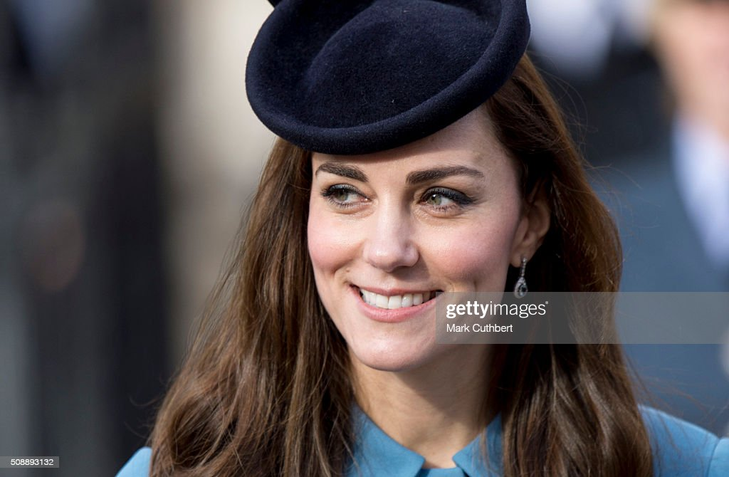 <a gi-track='captionPersonalityLinkClicked' href=/galleries/search?phrase=Catherine+-+Duchess+of+Cambridge&family=editorial&specificpeople=542588 ng-click='$event.stopPropagation()'>Catherine</a>, Duchess of Cambridge, Honorary Air Commandant, leaves a reception after a service toÊmark the 75th anniversary year of the RAF Air Cadets at St Clement Danes Church on February 7, 2016 in London, England.