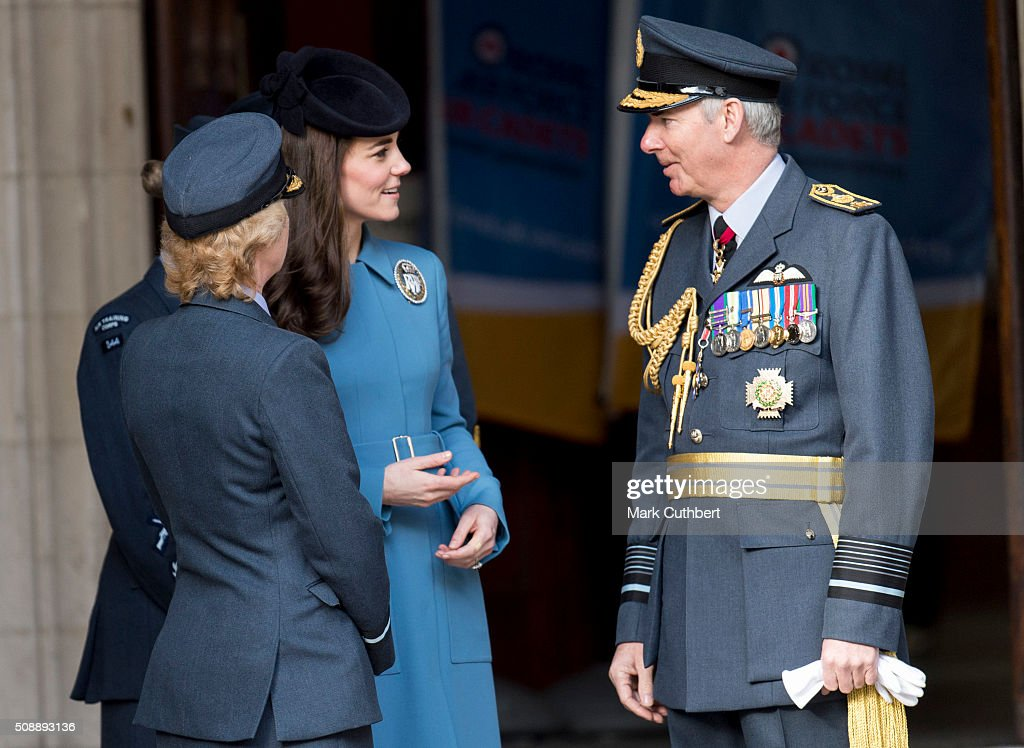 <a gi-track='captionPersonalityLinkClicked' href=/galleries/search?phrase=Catherine+-+Herzogin+von+Cambridge&family=editorial&specificpeople=542588 ng-click='$event.stopPropagation()'>Catherine</a>, Duchess of Cambridge, Honorary Air Commandant, leaves a reception after a service toÊmark the 75th anniversary year of the RAF Air Cadets at St Clement Danes Church on February 7, 2016 in London, England.