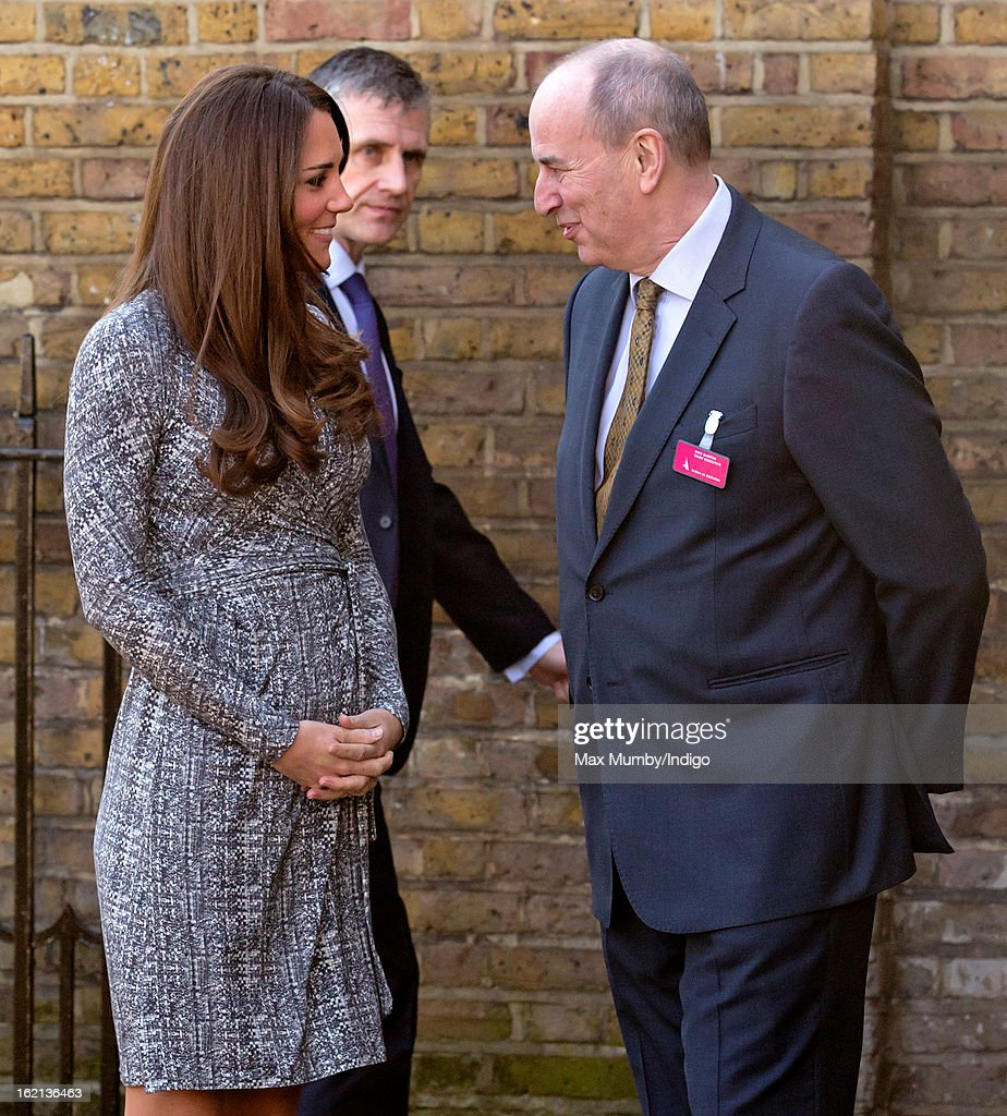 <a gi-track='captionPersonalityLinkClicked' href=/galleries/search?phrase=Catherine+-+Duchesse+de+Cambridge&family=editorial&specificpeople=542588 ng-click='$event.stopPropagation()'>Catherine</a>, Duchess of Cambridge, in her role as Patron of Action on Addiction, is greeted by Nick Barton (Chief Executive of Action on Addiction) as she arrives for a visit to Hope House, a residential treatment centre, on February 19, 2013 in London, England.
